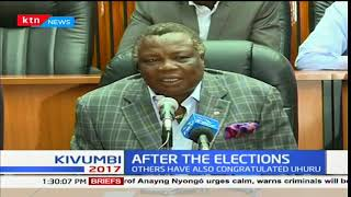 COTU Sec Gen Francis Atwoli urges the police not to intimidate demonstrators by use of brutal force
