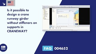FAQ 004652 | Is it possible to design a crane runway girder without stiffeners on supports in CRANEWAY?