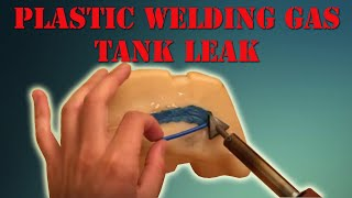 How To Plastic Weld Gas Tank LEAK  The Gamefisher Series