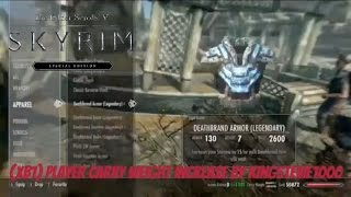 Skyrim SE Xbox One Mods|(XB1) Player Carry Weight Increase