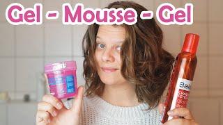 Ich teste die GEL-MOUSSE-GEL Methode (anstatt MOUSSE-GEL-MOUSSE)- CURLY GIRL METHODE