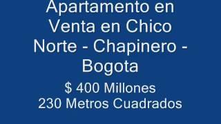 preview picture of video 'APARTAMENTO VENTA BOGOTA - Chapinero - Barrio Chico Norte vendo.wmv'