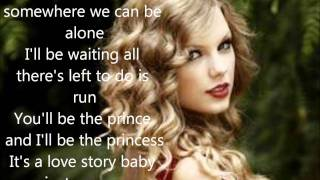 Taylor Swift Love story w/lyrics on screen