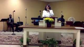 "Pastor Evangela Williams at Statesboro Deliverance Church  ""Pray anyway"""