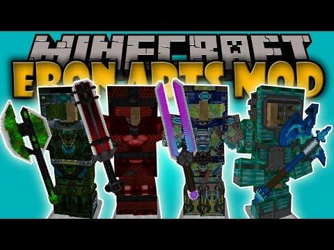 EBON ARTS MOD - Las Armaduras que NECESITAS!!! - Minecraft mod 1.7.10 - 1.11 Review ESPAÑOL