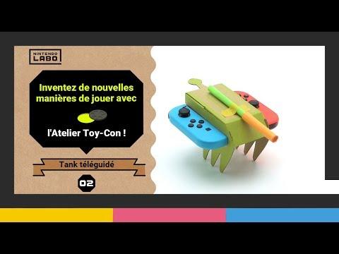 Construction d'un tank et d'un lézard en vidéo de Nintendo Labo