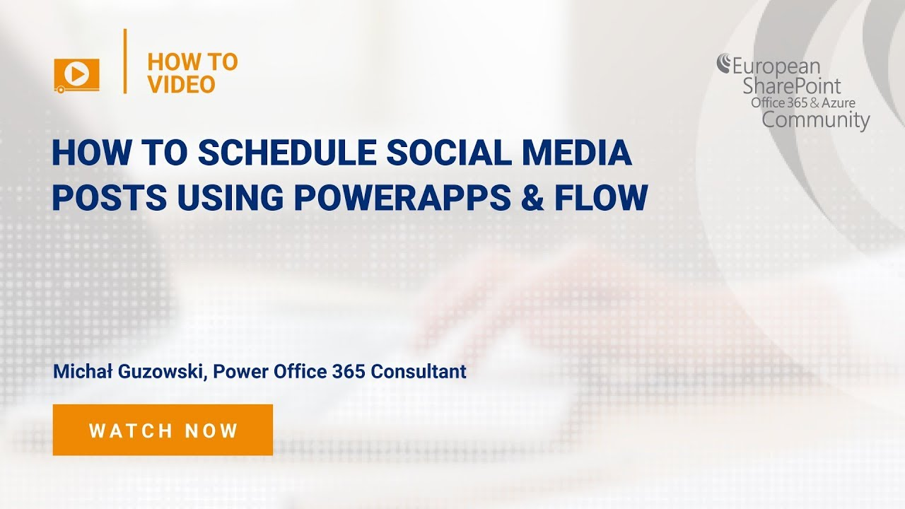 How to Schedule Social Media Posts using PowerApps & Flow