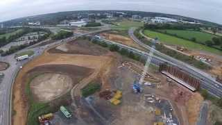 preview picture of video 'Northern Distributor Road, Postwick, Norwich'