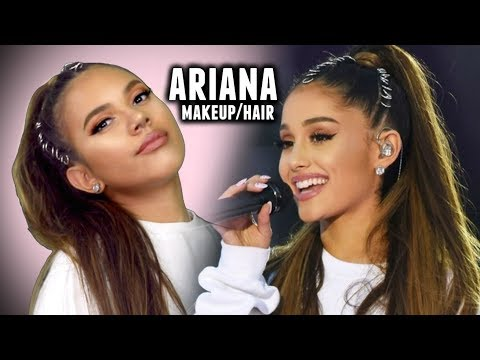 ariana grande makeup and hair tutorial   one love concert ce