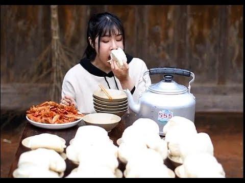 全村第一吃貨,農村姑娘挑戰晚餐100個饅頭!Big Stomach King Challenge