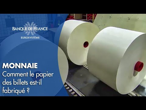 Production du papier pour le nouveau billet de 50 euros