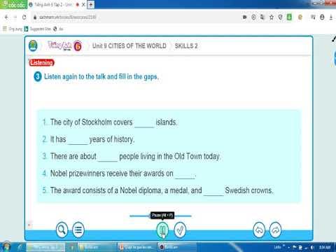 Tiếng Anh 6 - Unit 9 Skill 2