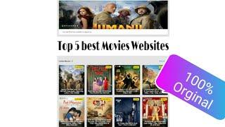 Top 5 best Movies Websites || 💯% Original || #Tranding website