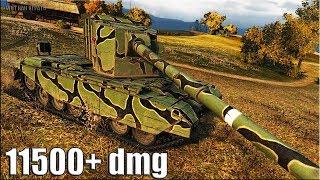 ОПАСНАЯ ПТ-САУ FV4005 Stage II 🌟 11500+ dmg 🌟 World of Tanks лучший бой на британской пт 10