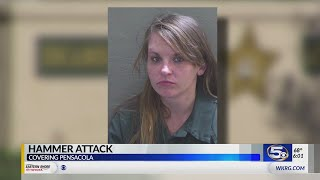 Pensacola woman charged with bloody Christmas Day attack with hammer
