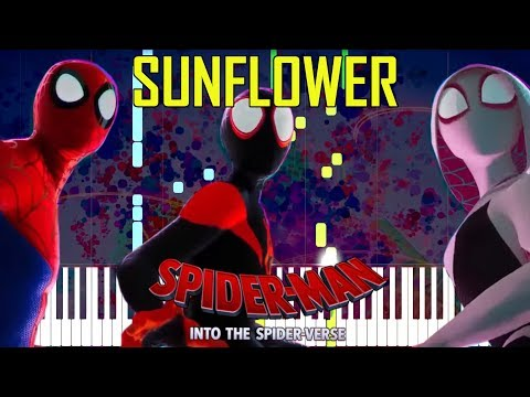 Sunflower - Post Malone, Swae Lee (OST Spider-Man: Into The Spider-Verse) [Synthesia Piano Tutorial]