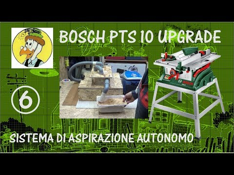 BOSCH PTS10  UPGRADE BY ARKIMEDE - SISTEMA DI ASPIRAZIONE AUTONOMO