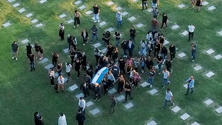 video: Argentinians queue in their hundreds to see Diego Maradona's body lying in state at the Casa Rosada