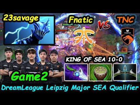 KING OF SEA BATTLE Fnatic vs TNC Predator   23savage [Razor] IMBA BUILD Game 2 Leipzig Major Playoff
