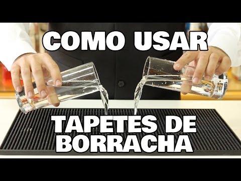 Como usar - Tapetes de borracha (Bar Mats)