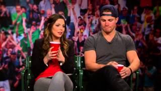 Katie Nolan l Stephen Amell Talks Hockey and TMNT 2