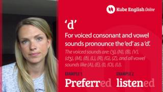 Pronunciation Of Past Simple Verbs With 'ed' Endings - FREE ENGLISH LESSON - Kube English