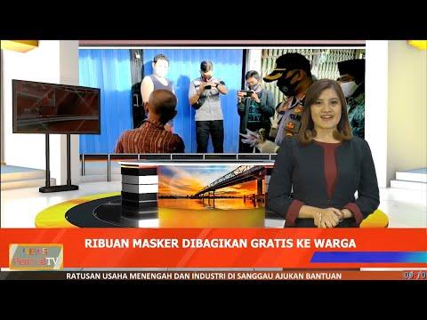 Video of Cegah Penularan Covid-19, Ribuan Masker Dibagikan ke Warga Singkawang