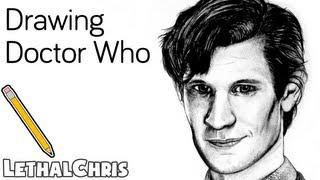 Doctor Who Drawing - Matt Smith - Fan Art Time Lapse