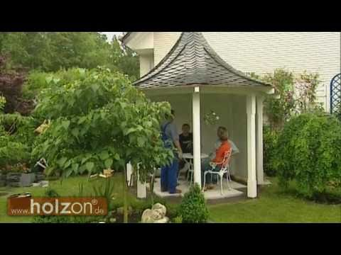 Pavillon selber bauen oder Holzpavillon / Gartenpavillon aufbauen lassen - holzon - Pavillons