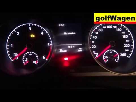 VW Golf 7 instrument cluster output test VCDS-VAG - смотреть онлайн