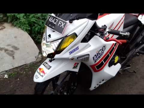 Video Modifikasi Honda Beat FI 2013 Motor Matic Full Fairing Part-1