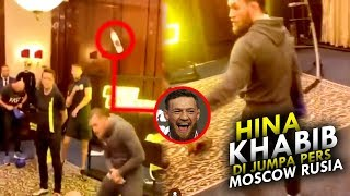 Conor McGregor's acting up again! Hina Khabib at a press conference in Moscow Russia