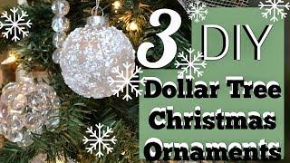 3 Cheap Easy Winter Wonderland Ornaments   Dollar Tree Christmas DIY
