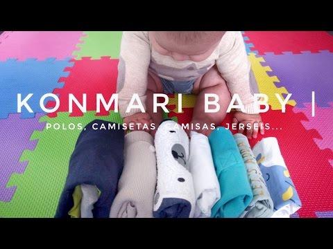 Cómo doblar ropa de bebé | Partes de Arriba | Método KonMari por Marie Kondo