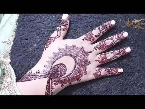 beautiful pakistani back hand mehndi design by ft mehndi designs
