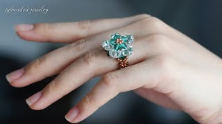 Ladies Rings. How To Make Beaded Ring. Beading Tutorial
