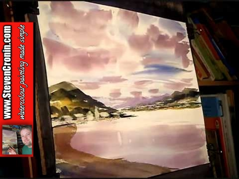 watercolour painting lesson featuring loch fyne, scotland part 2