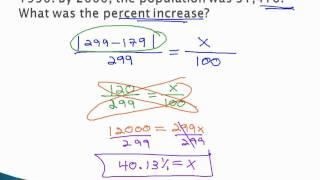 Percents and Proportions - Percent Increase/Decrease