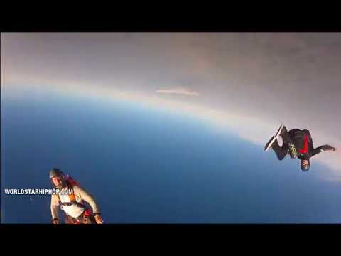 Cameraman saves his friends life while skydiving