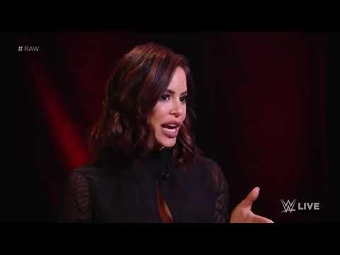 Шейна Басзлер прерывает интервью Бекки Линч-Raw, ноябрь. 4, 2019.