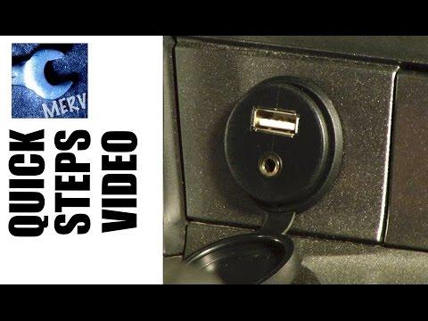 AUX JACK USB CAR INSTALL -- Quick Steps