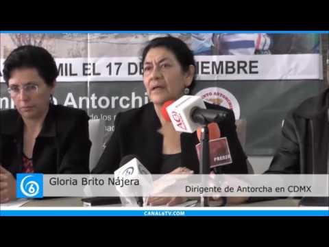 Antorcha anuncia plantón en la Ciudad de México