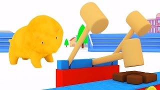 Учим цвета с разноцветными шарами, динозавриками Дино и его подружкой Диной | мультфильм для детей