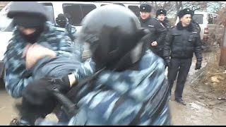 Задержание крымских татар в Каменке 21.02.2017