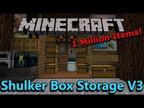 [Tutorial] Minecraft: 1 Million Item Shulker Box Storage System