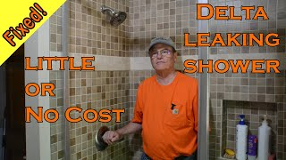 How to fix a leaking shower head  with a single handle  at no cost or low cost.