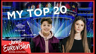 Junior Eurovision 2018 | My Top 20