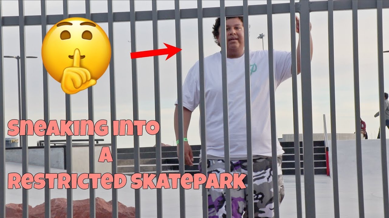 Sneaking Into A RESTRICTED Skatepark - LamontHoltTV