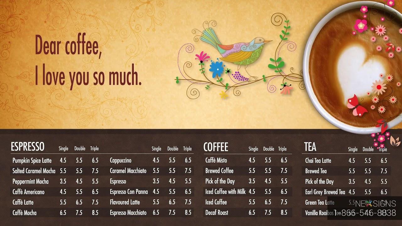 Coffee Shops Digital Signage Display