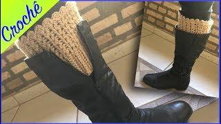 Boot Cuff Fácil -- Crochê